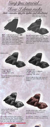 Tuto : how to draw a rock (+light/shadows tips) by Spin-T