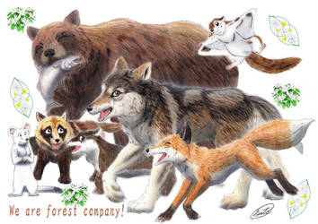 Animal Friends by SheltieWolf