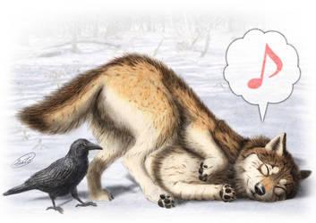 Happy Wolf by SheltieWolf