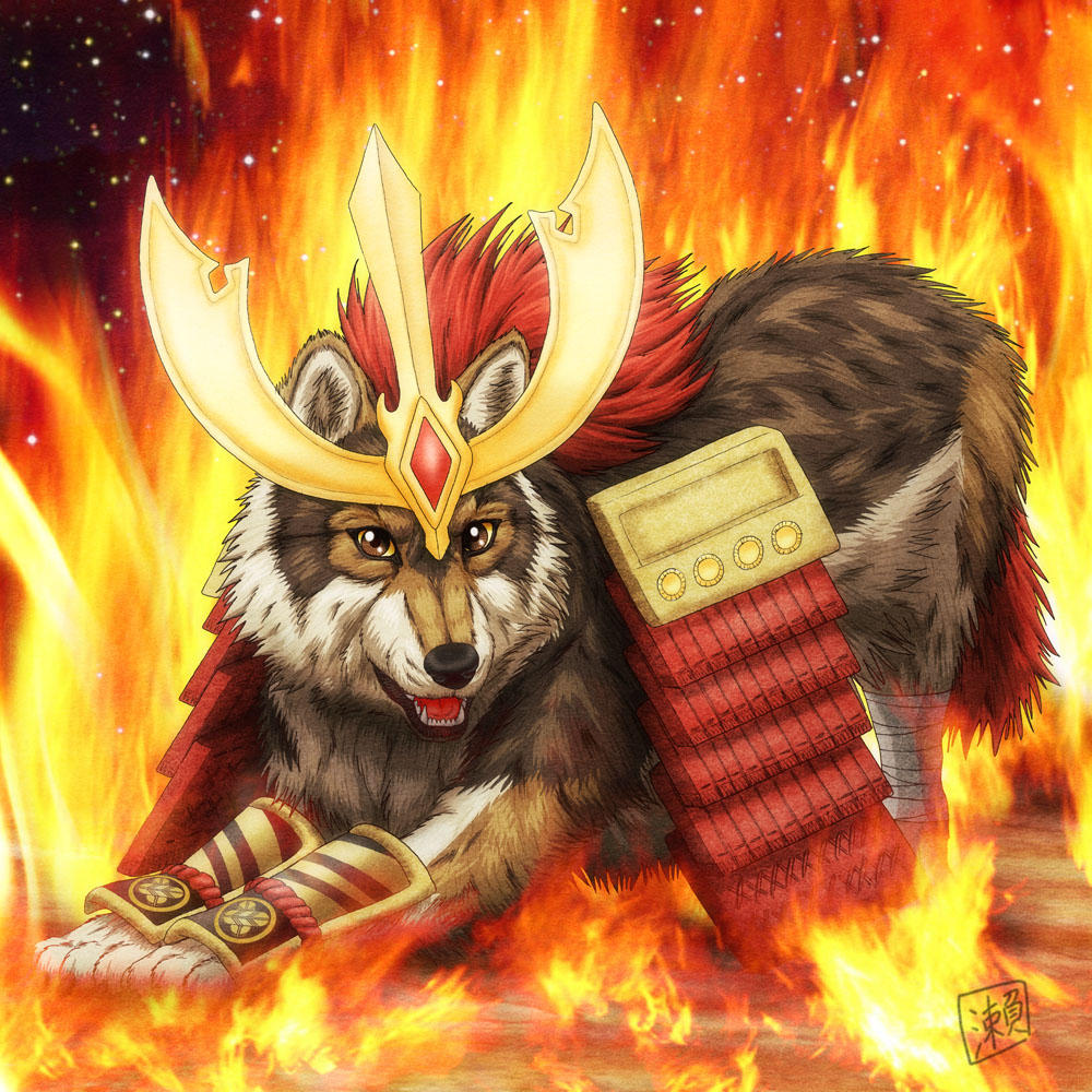Warrior Wolf by SheltieWolf