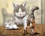 Gazing Cat by SheltieWolf