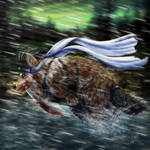 Run, Wolf! by SheltieWolf