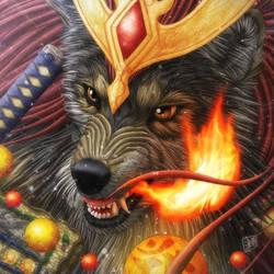 Fire Wolf by SheltieWolf