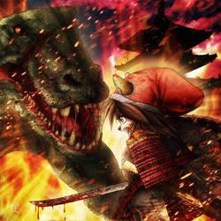 Samurai Fight by SheltieWolf