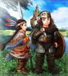 Erik and Catori by SheltieWolf