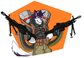 Big Guns ych commission by NateBlue