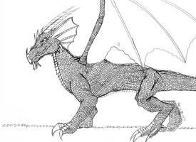 Detailed Dragon Sketch by seifernomiko