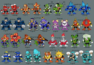 16 Megaman Redesigns by splendidland