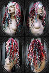 curly dreads wig by LunaticDolls