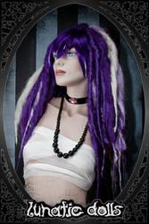 custom wig work: puffy Dreads by LunaticDolls