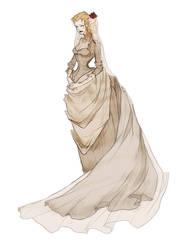 Rowena's Wedding Gown by AbigailLarson