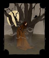 Drawlloween 2016 - Creepy Trees by AbigailLarson