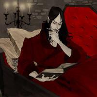 Drawlloween 2017 - Vampire by AbigailLarson