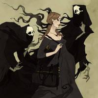 Drawlloween 2017 - Ghoul by AbigailLarson