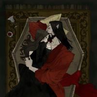 Drawlloween 2017 - Coffin by AbigailLarson