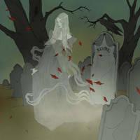 Drawlloween 2018 - Ghost by AbigailLarson