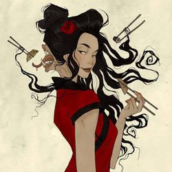 Drawlloween - Yokai by AbigailLarson