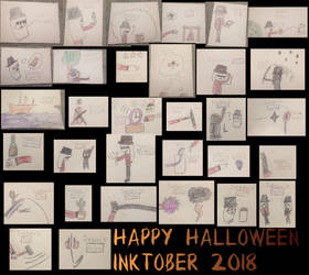 Lexi's Inktober Collage by artistpikmin100