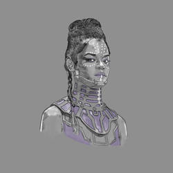 Black Panther Shuri (Letitia Wright) by disposablepal