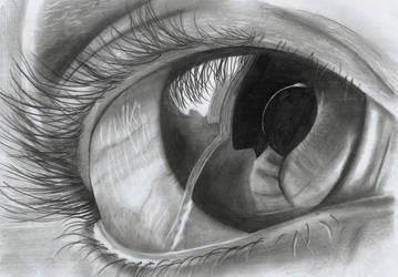 Realistic eye (Pencil on paper) by ShinzaK