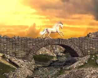 White Horse River by Goldenthrush