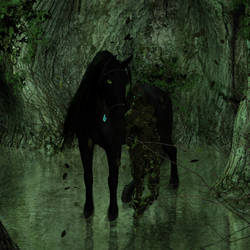 Kelpie and Dryad by Goldenthrush