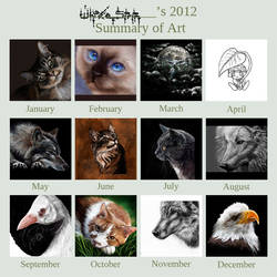 2012 Art Summary by SandraWhite