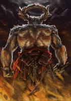 Demon sketch by Txikimorin