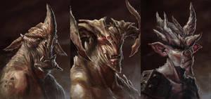 Demon Portrait 1 by Txikimorin
