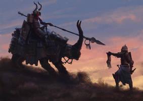 Knights before night by Txikimorin