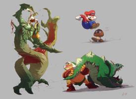 SUPER AMAZING FANART FIGHTS! by Txikimorin