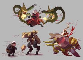 SUPER AMAZING FANART FIGHTS II ! by Txikimorin