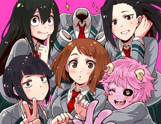 Boku no hero girls by Monotsuki