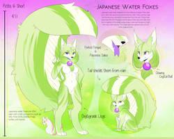Japanese Water Fox - Green Tea by AimiArts