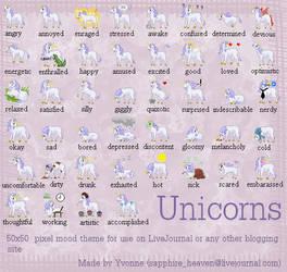 Unicorn Pixel Mood Theme by princess-phoenix