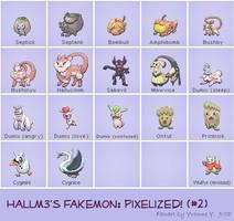Hallm3's Fakemon-Set 2 by princess-phoenix