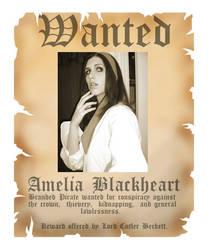 WANTED: Amelia Blackheart by Pharaoh-sama