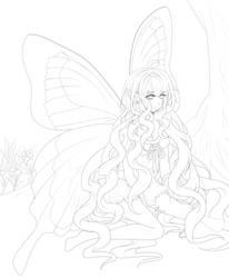 fairy_lineart by xoxkimochiixox