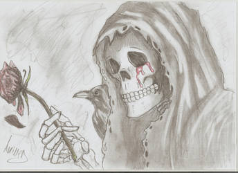 The Reaper crying by DarkExoricsT