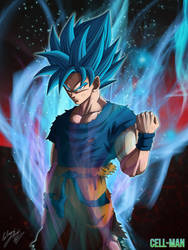 Goku: Super Saiyajin Blue by CELL-MAN