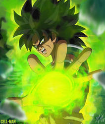 Broly: Wrath by CELL-MAN