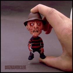 Freddy Krueger mini-statue figure: I'm BACK!! by buzhandmade