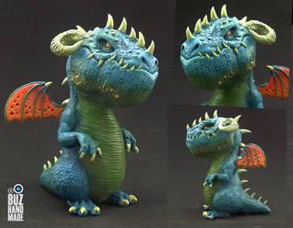 Tropic Sea Battle Dragon by buzhandmade