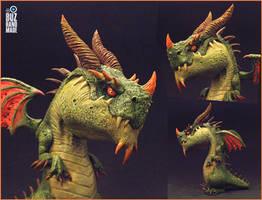 Kratos Dragon of ForestLand by buzhandmade