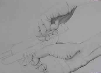 Hands: gun by bldred