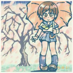 Rain, Tree, Umbrella by oi-chan