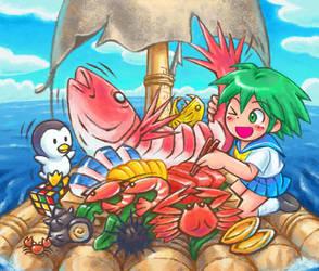 Sashimi party by oi-chan