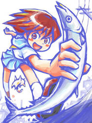 Kick and dash by oi-chan