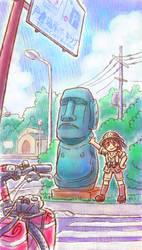 Moai by oi-chan