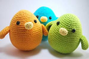 Birdies by craftyhanako